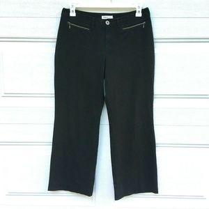 Coldwater Creek 12 Petite Wide Leg Black Trousers
